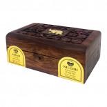Чай Ассам и Нилгири черный в деревянной коробке Bharat Bazaar 100г