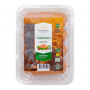 Сардельки Шпикачки постные (vegan sausage) Высший Вкус 400г