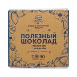 Горький шоколад на меду с миндалем (bitter chocolate) Добро 90г
