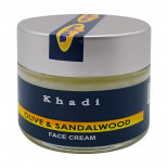 Питательный крем для лица с сандалом и оливой (face cream) Khadi | Кади 50г