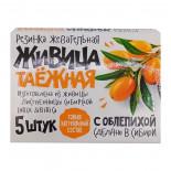 Живица таёжная с облепихой (жвачка из смолы) Алтайский нектар 5шт