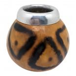 Калебас для чая мате с металлическим ободком