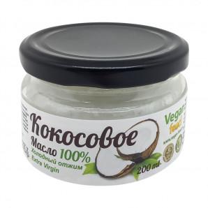 Нерафинированное кокосовое масло (coconut oil) Vegan Food | Веган Фуд 200мл