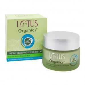 Восстанавливающий ночной крем дивайн, Lotus Organics +