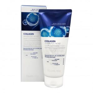 Увлажняющая пенка для умывания с коллагеном (Collagen water full moist deep cleansing foam) Farm Stay | Форм Стэй 180мл