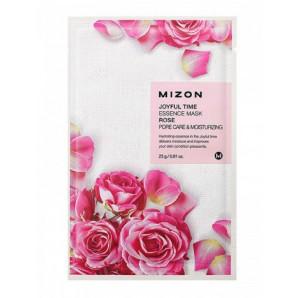 Тканевая маска для лица с экстрактом лепестков розы I Joyful Time Essence Mask Rose Mizon 23г
