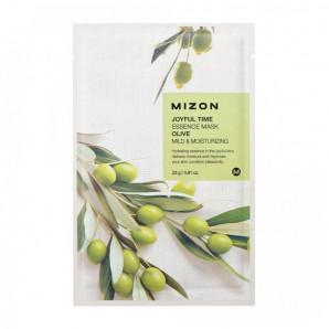 Тканевая маска для лица с экстрактом оливы (Joyful time essence mask olive) Mizon | Мизон 23г
