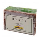 Мыло-скраб для лица с нимом и базиликом (scrub-soap) Khadi | Кади 125г