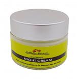 Восстанавливающий крем для лица ночной с шафраном и козьим молоком (night cream) Indian Khadi | Индиан Кади 50г