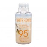 Очищающая вода для лица с экстрактами белых цветов (Pure natural cleansing water white flower) Farm Stay | Фарм Стэй 500мл