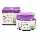 Осветляющий крем для лица с молочными протеинами | Milk Visible Difference White Cream Farm Stay 100г