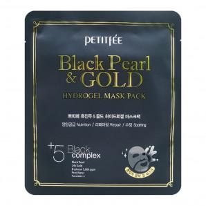 Гидрогелевая маска для лица с черным жемчугом (hydrogel mask) Petitfee | Петитфи 30г