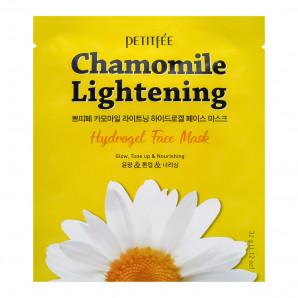 Гидрогелевая маска экстрактом ромашки | Chamomile Lightening Hydrogel Face Mask Petitfee 32г