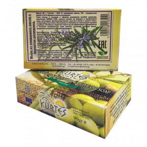 Оливковое мыло Green Line c ароматом розмарина Kurtes 90г