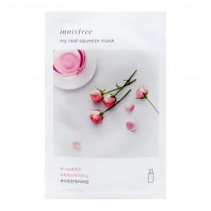 Тканевая маска для лица трехслойная с розовой водой (mask sheet) Innisfree   Иннисфри 20мл
