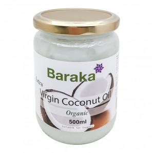 Органическое кокосовое масло (organic coconut oil) в стеклянной банке Baraka | Барака 500мл