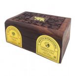 Чай Ассам черный и Дарджилинг зеленый в деревянной коробке Bharat Bazaar 100г