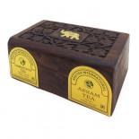 Чай Ассам черный и Дарджилинг черный в деревянной коробке Bharat Bazaar 100г