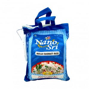 Непропаренный рис Басмати (basmati rice) в синем мешке Nano Sri   Нано Шри 1кг