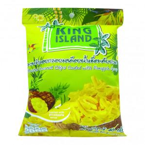 Чипсы кокосовые с ананасом King Island 40г