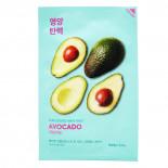 Успокаивающая тканевая маска для лица с экстрактом авокадо  Holika Holika 20мл