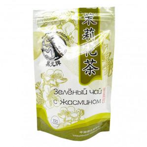 Зеленый чай с цветками жасмина (green tea) Black Dragon | Блэк Драгон 100г