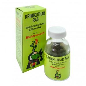 Кримикутхар Рас (Krimikuthar Ras) от паразитов в организме Baidyanath | Бэйдинат 80таб