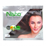 Крем - краска для волос на основе хны Nisha  Ниша Темно-коричневая 50г