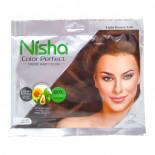 Крем - краска для волос на основе хны Nisha  Ниша Светло-коричневая 50г