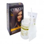 Крем-краска для волос без аммиака стойкая Enega Brilliance  Инига Темно-коричневая 50г