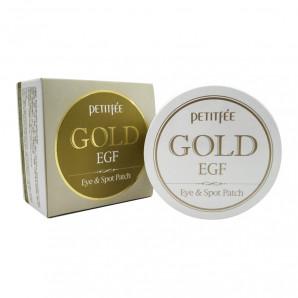 Гидрогелевые патчи с золотом | Premium Gold & EGF Eye Patch Petitfee 60шт