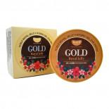 Гидрогелевые патчи для кожи вокруг глаз с золотом и маточным молочком Petitfee 60шт