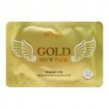 Гидрогелевые патчи для шеи с золотом (Gold neck pack hydrogel angel wings) Petitfee | Петитфи 10г