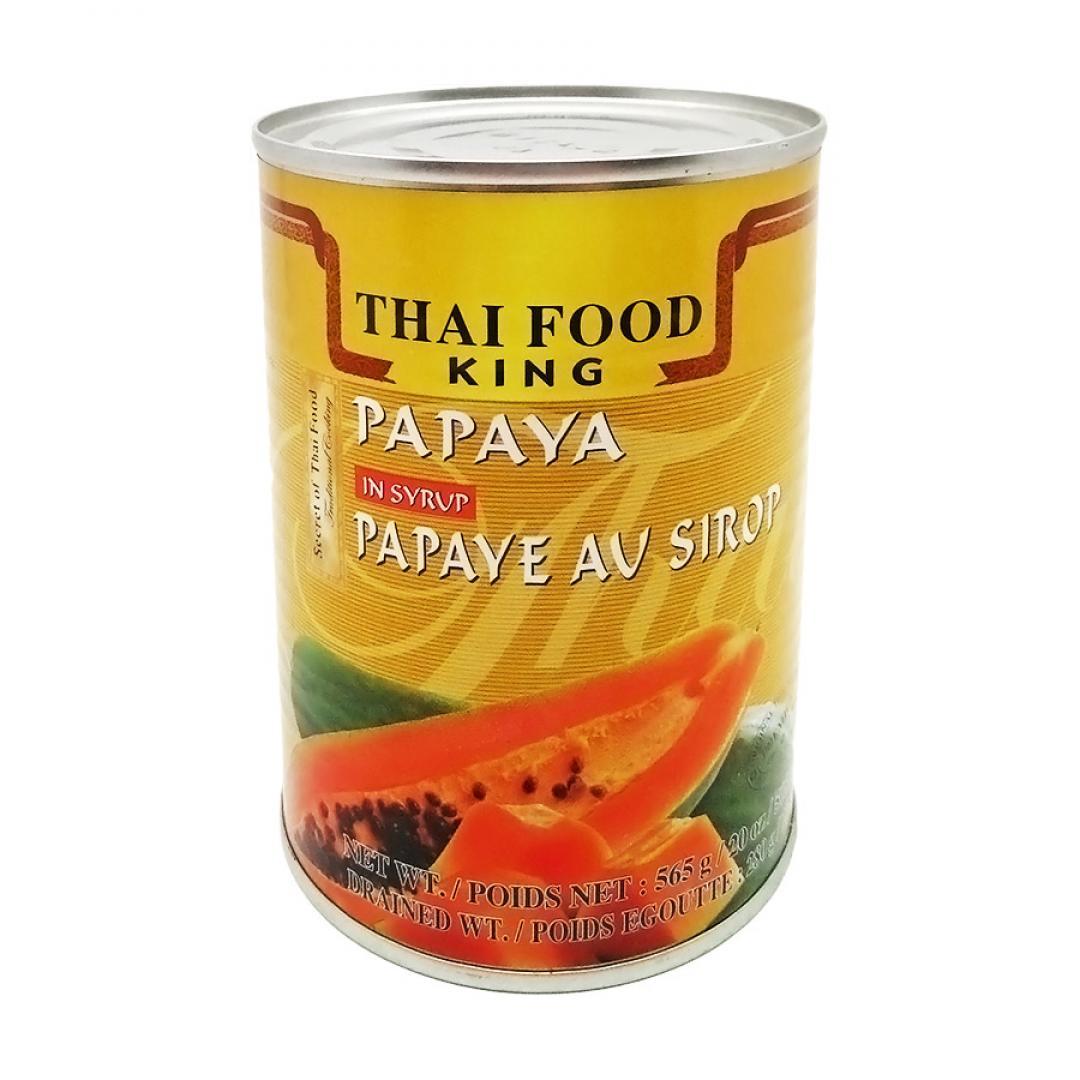 Папайя (papaya) в сиропе Thai Food King | Тай Фуд Кинг 565г — купить по цене 344 руб. Интернет магазин индийских товаров Ашанти (Москва)