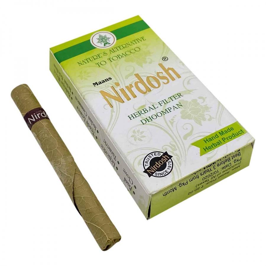 Нирдош (Nirdosh) сигареты без табака с ментолом 10 сигарет — купить по цене 239 руб. Интернет магазин индийских товаров Ашанти (Москва)