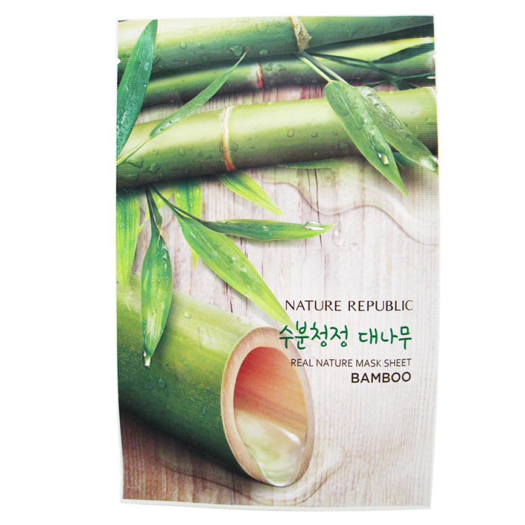 Тканевая маска для лица с экстрактом бамбука (mask sheet) Nature Republic | Нэйча Репаблик 23мл