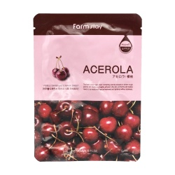 Тканевая маска для лица с экстрактом ацеролы (Visible difference mask sheet acerola) Farm Stay | Фарм Стэй 23мл
