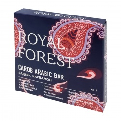 Шоколад из кэроба с бадьяном и кардамоном (carob chocolate) Royal Forest | Роял Форест 75г