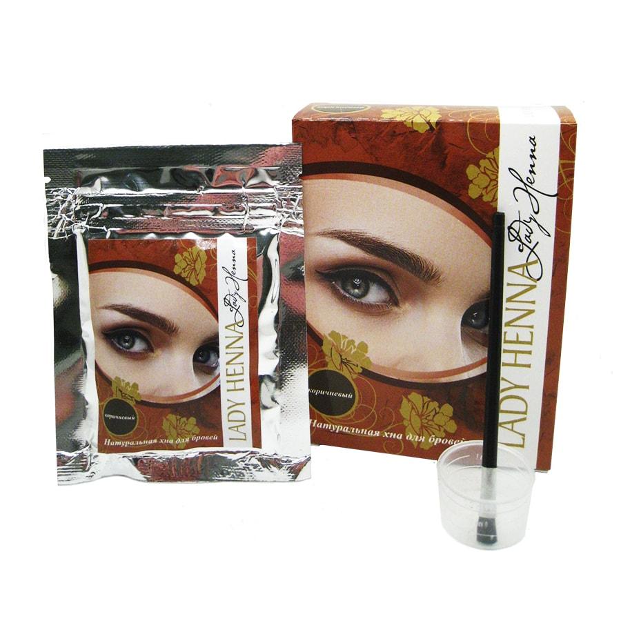 Хна для бровей Коричневая (brow henna) Lady Henna | Леди Хэнна 10г — купить по цене 227 руб. Интернет магазин индийских товаров Ашанти (Москва)